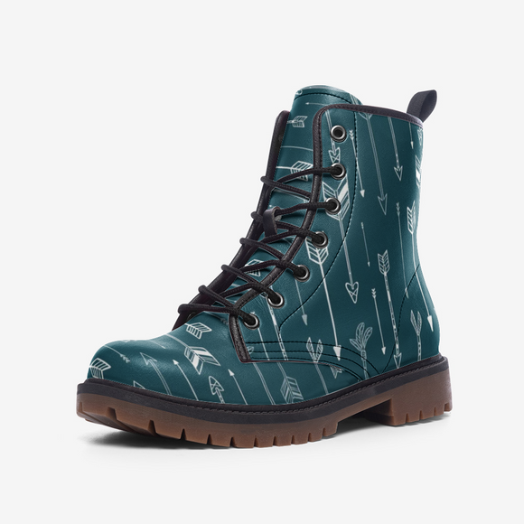 Native American Blue Arrows Casual Leather Lightweight Unisex Boots DromedarShop.com Online Boutique