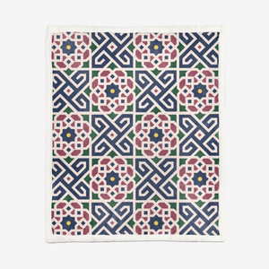 MIRACLE OF THE EAST MOROCCAN PATTERN Double-Sided Super Soft Plush Blanket DromedarShop.com Online Boutique