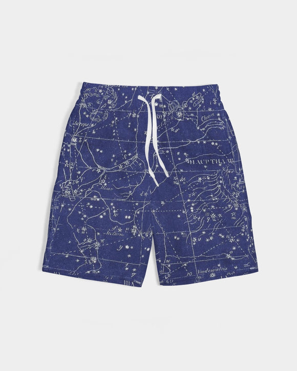 stars map blue Boy's Swim Trunk DromedarShop.com Online Boutique