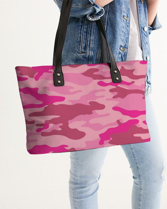 Pink 3 Color Camouflage Stylish Tote DromedarShop.com Online Boutique