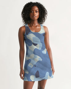 Blue Maniac Camouflage Women's Racerback Dress DromedarShop.com Online Boutique