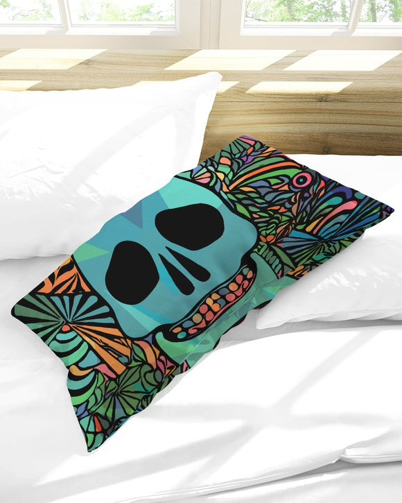 Aztec-Inka Collection Mexican Colorful Skull King Pillow Case DromedarShop.com Online Boutique