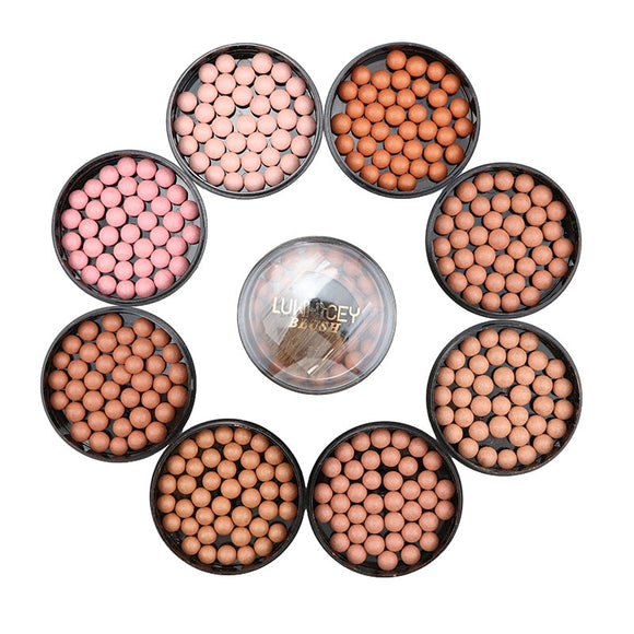 1pc Makeup Face Matte Blusher Ball 3 In 1 Blush Eyeshadow 8 Colors DromedarShop.com Online Boutique