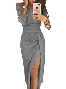 Fashion lady  one-shoulder long-sleeved Dress DromedarShop.com Online Boutique