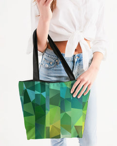 Green Line 101 Canvas Zip Tote DromedarShop.com Online Boutique