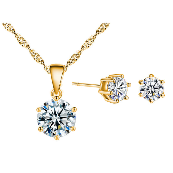 Jewelry 925 Sterling Silver Earring Pendant Necklace Sets