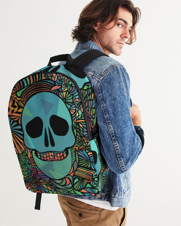 Aztec-Inka Collection Mexican Colorful Skull Large Backpack DromedarShop.com Online Boutique