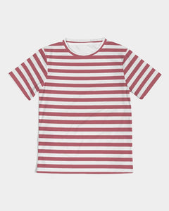 Red Stripes on White Kids Tee DromedarShop.com Online Boutique