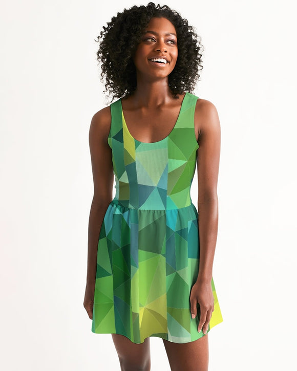 Green Line 101 Women's Scoop Neck Skater Dress DromedarShop.com Online Boutique
