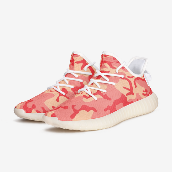 Red Coral Camouflage Unisex Lightweight Sneaker YZ Boost DromedarShop.com Online Boutique