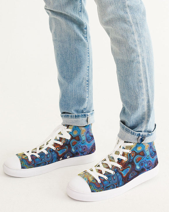 You Like Colors Men's Hightop Canvas Shoe DromedarShop.com Online Boutique