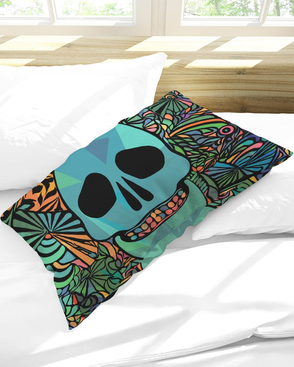 Aztec-Inka Collection Mexican Colorful Skull Queen Pillow Case DromedarShop.com Online Boutique