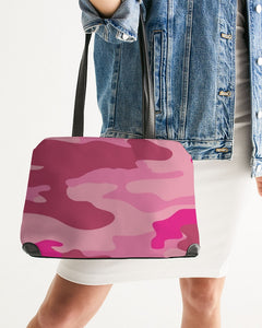 Pink 3 Color Camouflage Shoulder Bag DromedarShop.com Online Boutique