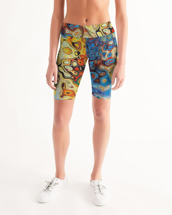 You Like Colors Women's Mid-Rise Bike Shorts DromedarShop.com Online Boutique