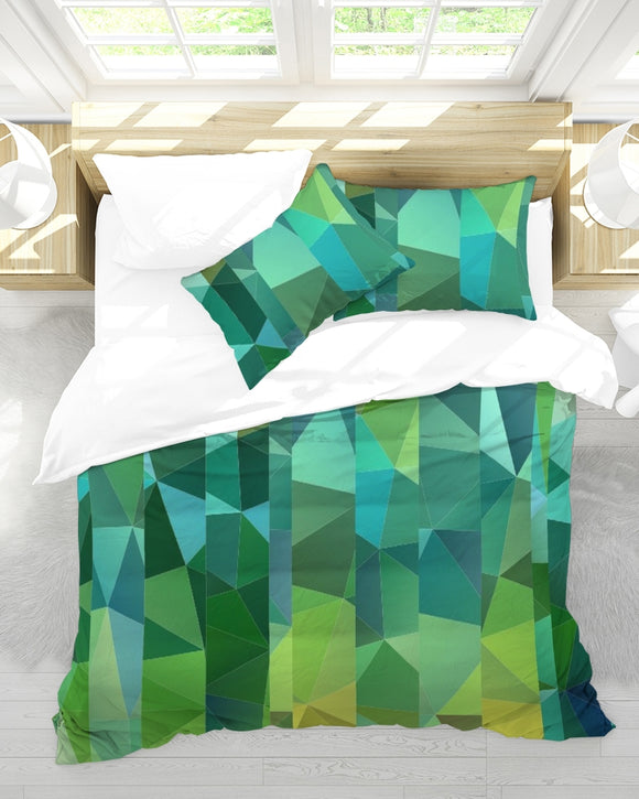 Green Line 101 King Duvet Cover Set DromedarShop.com Online Boutique