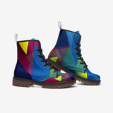 Colored Triangles Casual Leather Lightweight Unisex Boots DromedarShop.com Online Boutique