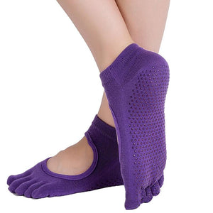 Women Yoga Socks Anti-slip Backless 5 Toe Socks - DromedarShop.com Online Boutique