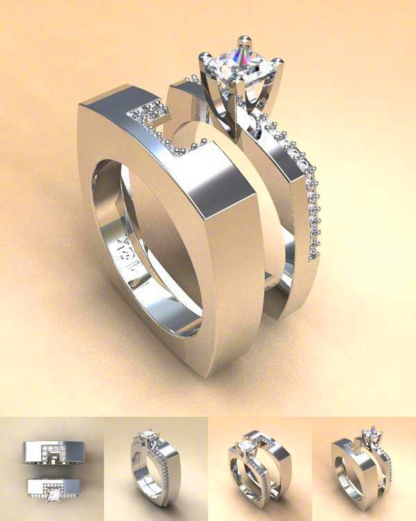 Zircon Stone Ring Set DromedarShop.com Online Boutique