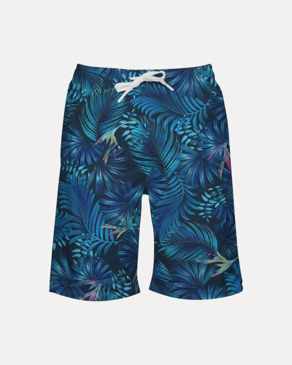 Floliage blue dream Boy's Swim Trunk DromedarShop.com Online Boutique