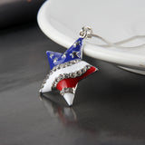 Fashion Jewelry High Quality American Flag Heart & Star Necklace - DromedarShop.com Online Boutique