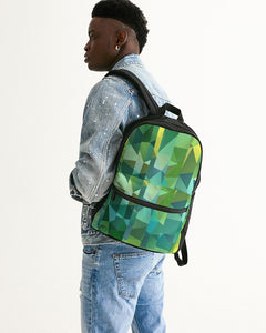 Green Line 101 Small Canvas Backpack DromedarShop.com Online Boutique