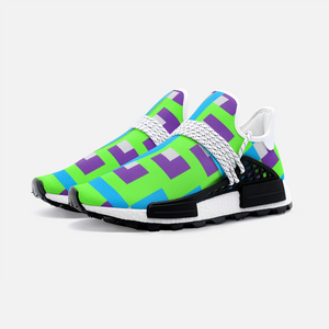 Aztec Blue Purple Green pattern  Unisex Lightweight Sneaker S-1 Boost DromedarShop.com Online Boutique