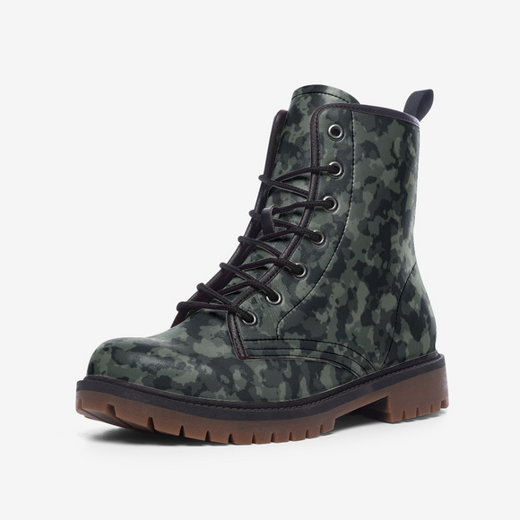 Camouflage Dark Side Casual Leather Lightweight Unisex Boots DromedarShop.com Online Boutique