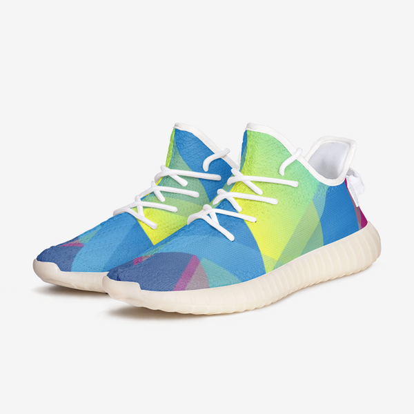 Abstract Colorful Triangle Unisex Lightweight Sneaker YZ Boost DromedarShop.com Online Boutique
