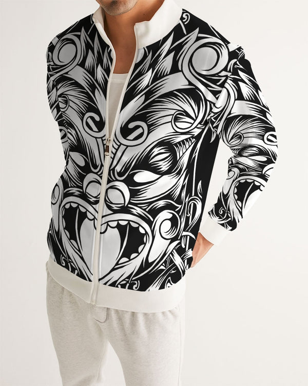 Maori Mask Collection Men's Track Jacket DromedarShop.com Online Boutique