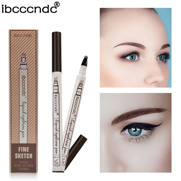 3 Colors Liquid Waterproof Eyebrow Pen DromedarShop.com Online Boutique