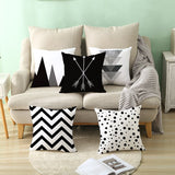 Geometric Black and White-Throw Pillow Cover-Home Decor Collection DromedarShop.com Online Boutique