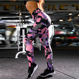 Digital Camouflage Print Yoga Pants Fitness Sport Women Workout Leggings DromedarShop.com Online Boutique