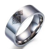 Game of Thrones Ice Wolf Men Rings DromedarShop.com Online Boutique