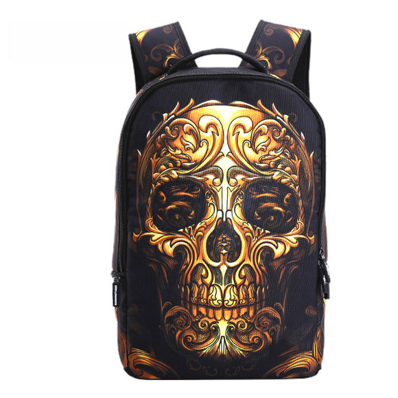 3D Skull Laptop School Backpack DromedarShop.com Online Boutique