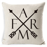 Cotton Linen Black White-Throw Pillow Cover-Home Decor Collection DromedarShop.com Online Boutique