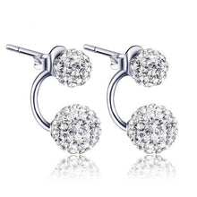 Women 's Luxury  Crystal Ball  Earrings