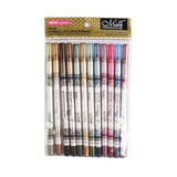 12PCS of 2 in 1,  Eye Liner Lip Pencil,  Long-lasting Waterproof DromedarShop.com Online Boutique