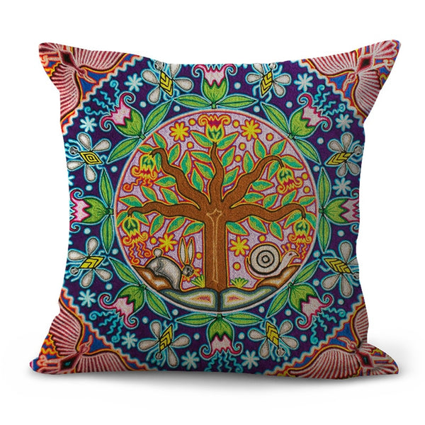Bohemian Ethnic Line-Throw Pillow Cover-Home Decor Collection DromedarShop.com Online Boutique