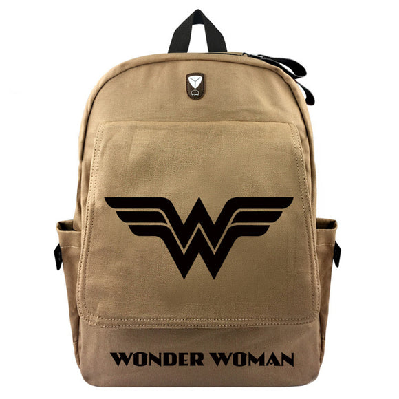 Wonder Woman Canvas Travel Backpack Bag DromedarShop.com Online Boutique