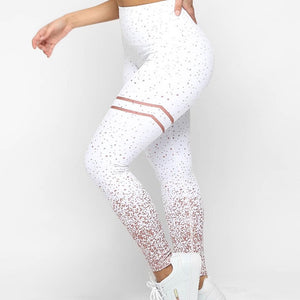 Women Gold Print Leggings