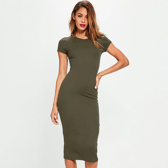 Women Summer Midi Dress DromedarShop.com Online Boutique