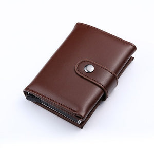 Men And Women Genuine Leather Credit card Case Pocket Box