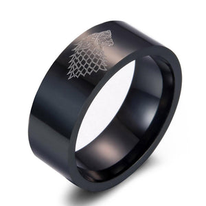 Game of Thrones Ice Wolf Men Rings