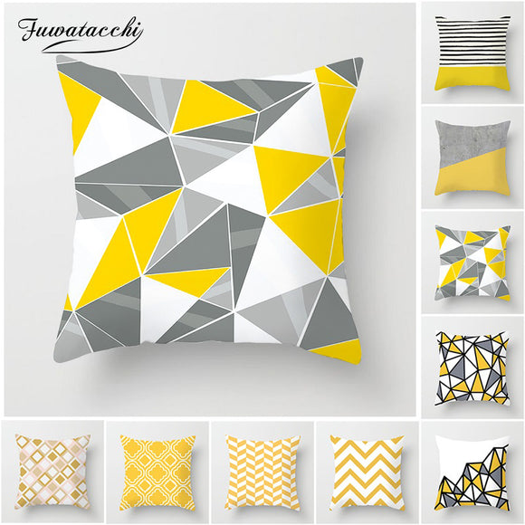 Yellow Diamond-Throw Pillow Cover-Home Decor Collection DromedarShop.com Online Boutique