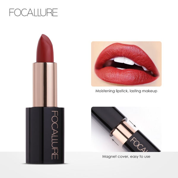 FOCALLURE 20 Colors Nutritious Easy to Wear Waterproof Long Lasting Lipstick DromedarShop.com Online Boutique