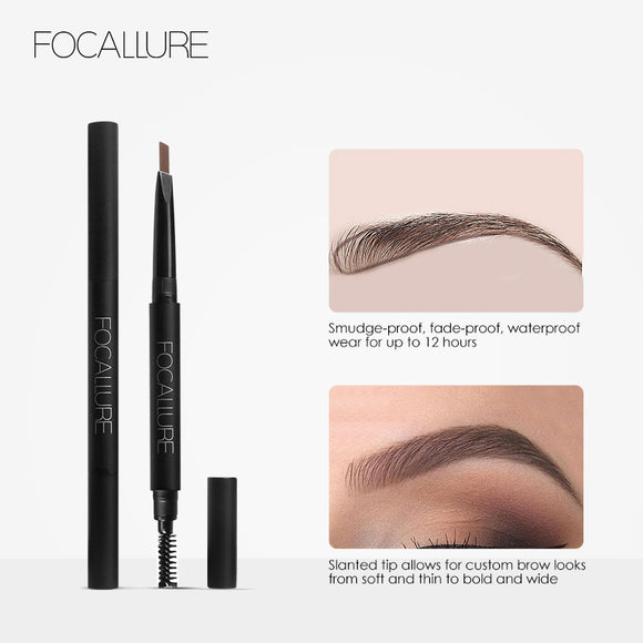 Waterproof 3 Colors Eyebrow Pen Pencil with Brush Makeup Cosmetics Tools DromedarShop.com Online Boutique