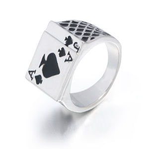 Vintage Personality Spades A Heart Shaped Poker Rings DromedarShop.com Online Boutique