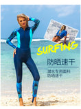 Sbart Long Sleeve Hooded  Surfing  Diving Quick Dry Swimsuit - DromedarShop.com Online Boutique