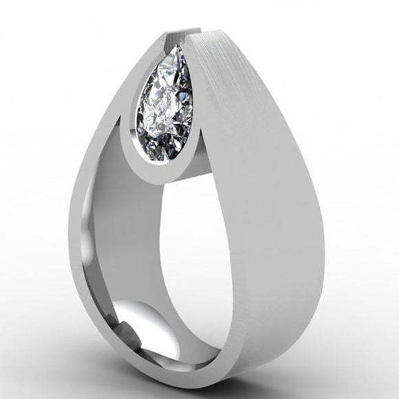 Fashion Silver Engagement Wedding Rings Jewelry for Women