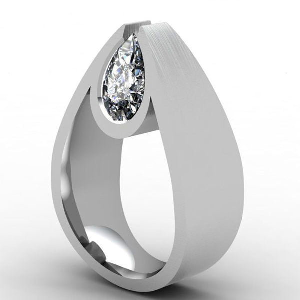 Fashion Oval Zircon Stone Silver Engagement Wedding Rings for Women DromedarShop.com Online Boutique